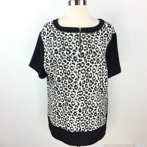 Dorothy Perkins Blouse Black/White Women Size 20